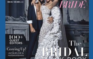 Jacqueline & Harshvardhan on the cover of Harper's Bazaar Bride India Magazine February 2017