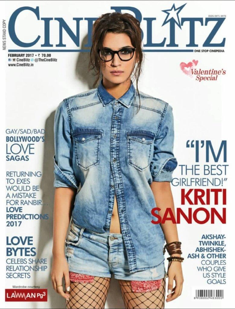 Kriti Sanon On The Cover Of CineBlitz India Magazine February 2017
