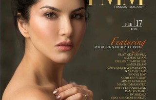Sunny Leone On The Cover Of ThnkMkt Magazine February 2017 Issue