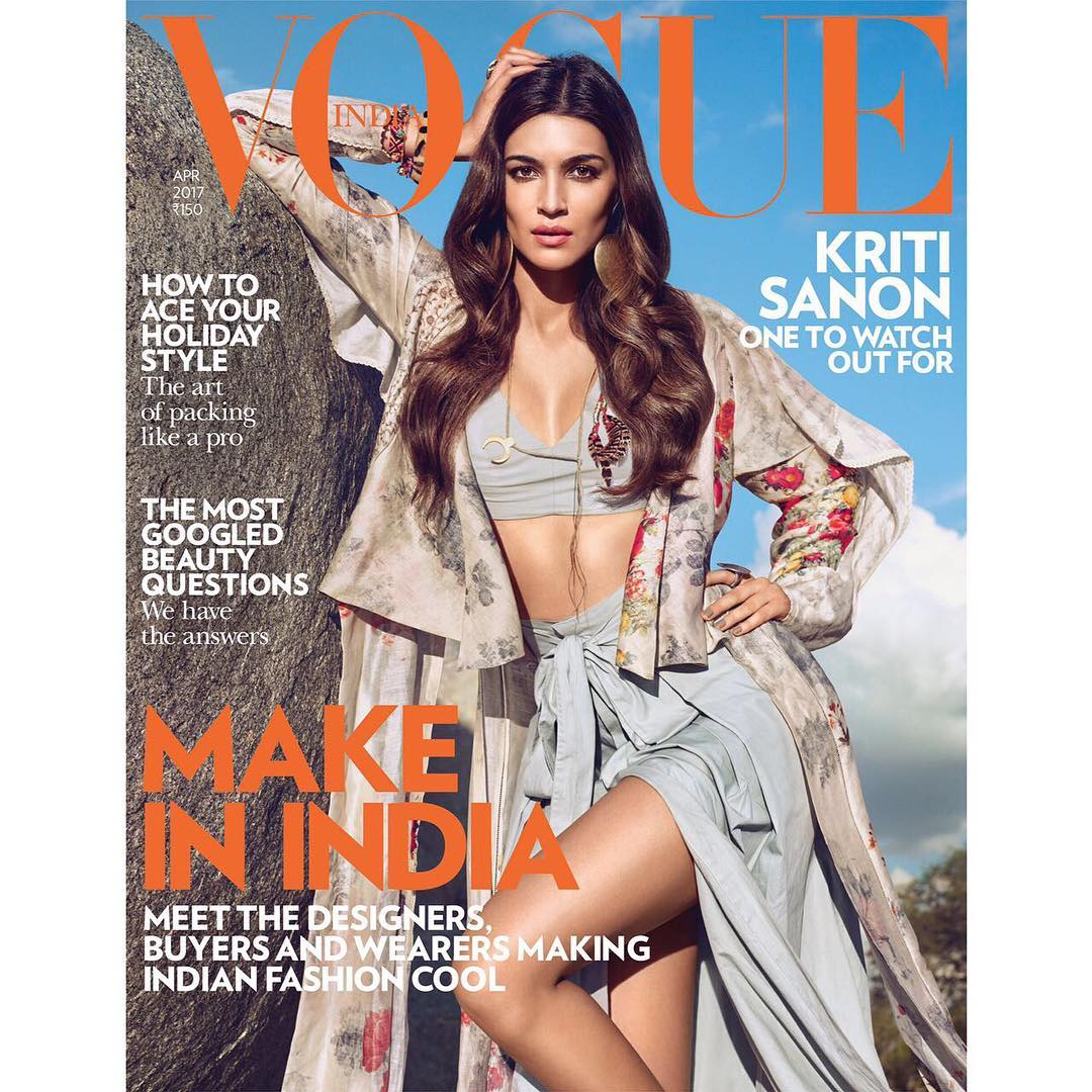 Kriti Sanon On The Cover Of Vogue India Magazine April 2017