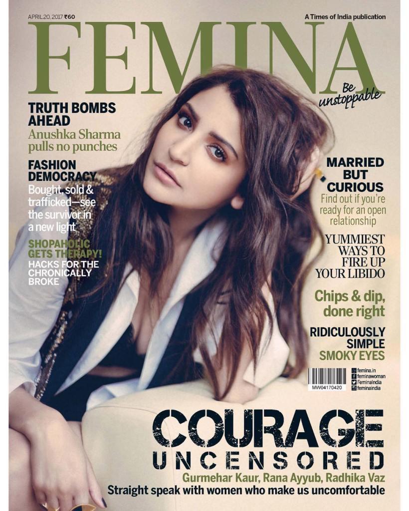 Anushka Sharma on The Cover for Femina India Magazine April 2017