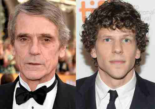 eisenberg and irons batman superman