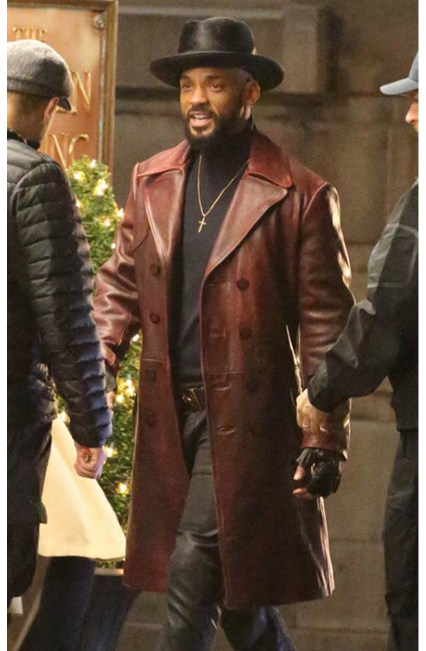 Will Smith Coat  Suicide Squad Deadshot Leather Coat