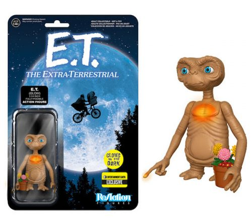 E.T. ReAction Action Figure 3-Pack & E.T. Glow-in-the-Dark Finger and Chest ReAction Action Figure