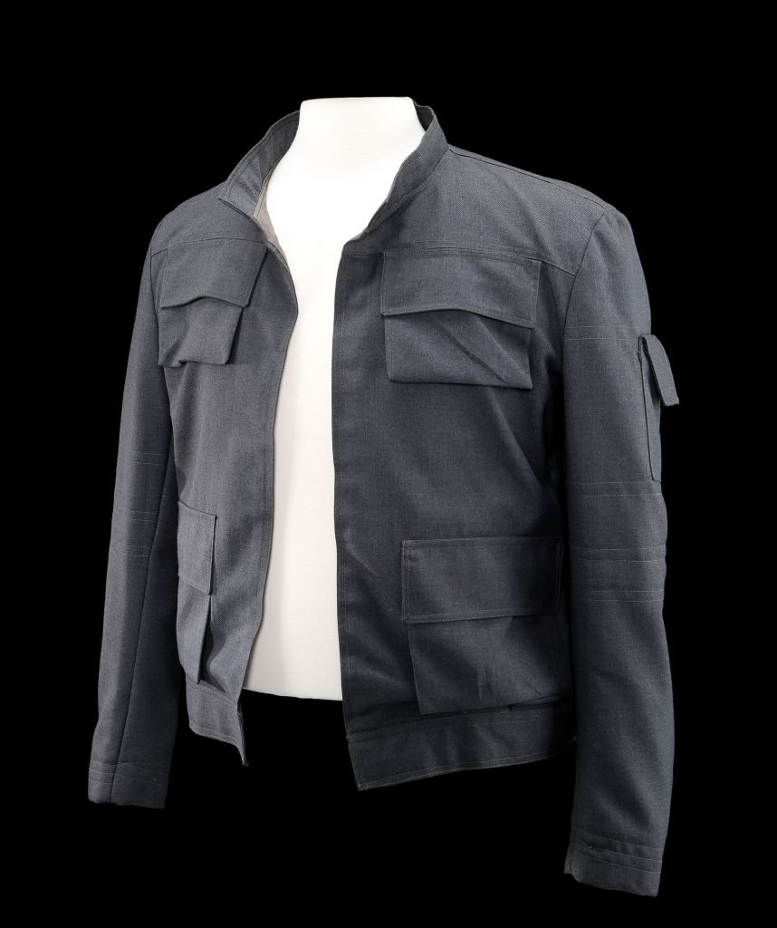 You can own Hans jacket from Empire Strikes Back for a cool million credits aka US dollars