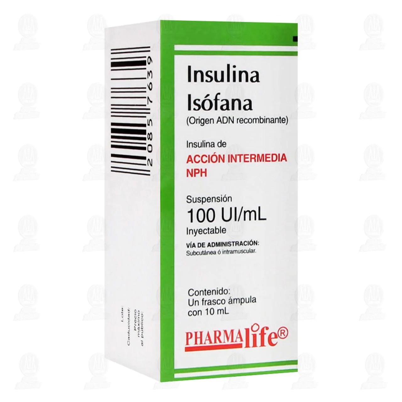 Comprar Insulina Isófana NPH 100ui/ml 1 Frasco Ámpula 10ml ...