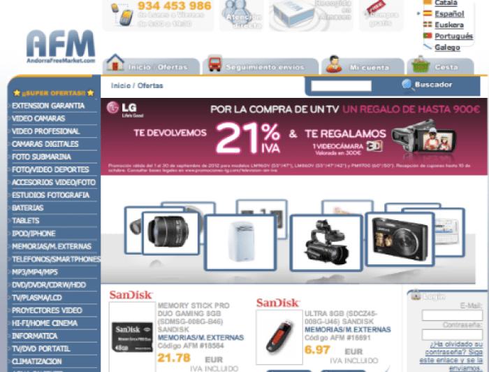 Andorra free market moviles: