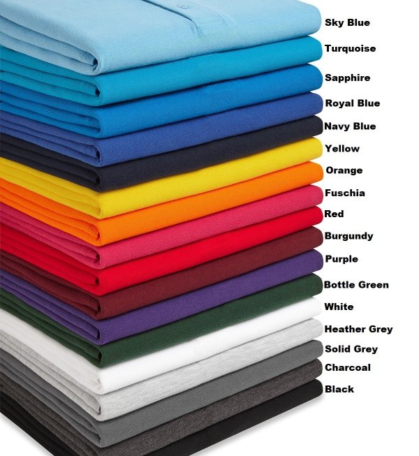 Summer Style Clergy Polo Shirt colours