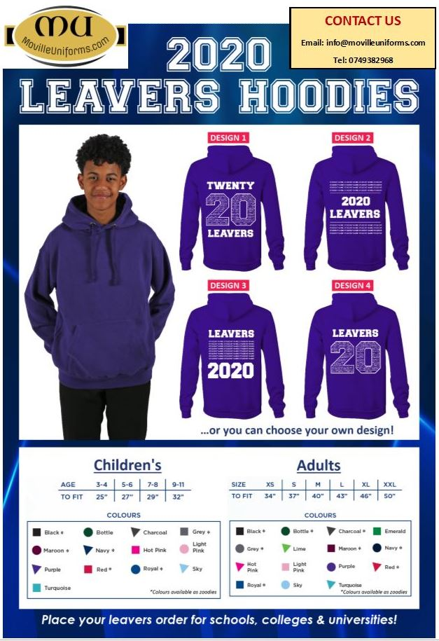 Leavers Hoodies 2020