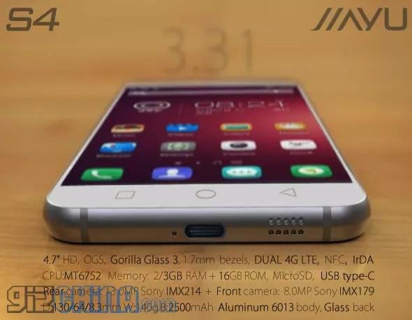 JiaYu S4, el móvil con USB-C.