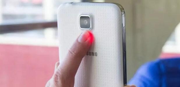 Sensor de ritmo cardiaco en Samsung Galaxy S5