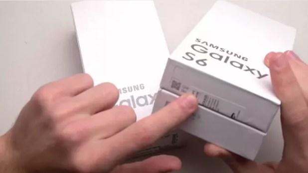 Caja del Samsung Galaxy S6