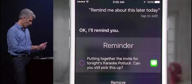 iOS 9 Proactive Siri.