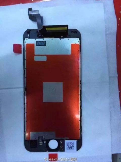 Módulos frontales del iPhone 6s