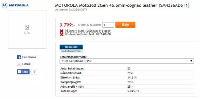moto 360 2 gen listado tienda