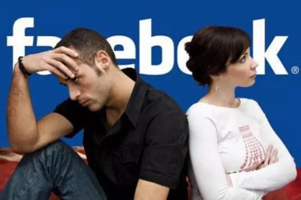 Ruptura de una pareja en Facebook