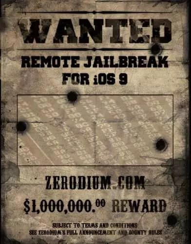Recompensa por el Jailbreak en iOS 9.1