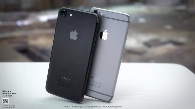 iPhone 7 negro y plateado