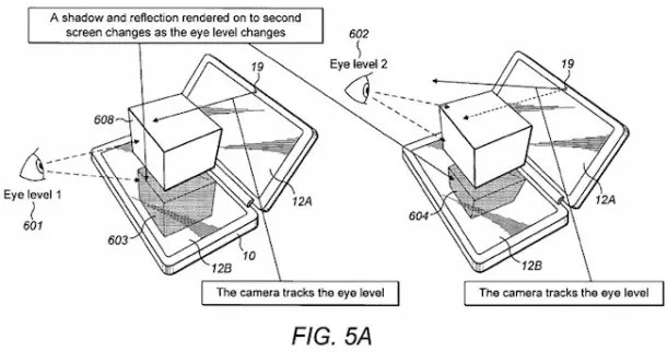 Nokia patenta un terminal con doble pantalla 3D y 2D