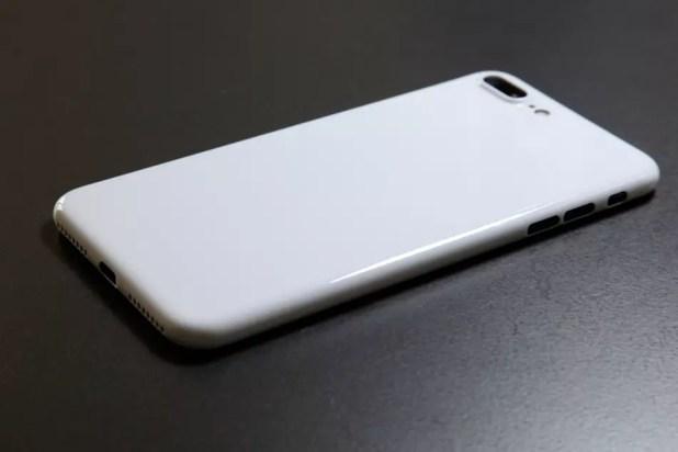 iPhone 7 Jet White personalizado con funda