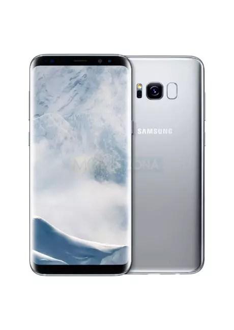 Samsung Galaxy℗ S8 Plus vista delantera y trasera gris