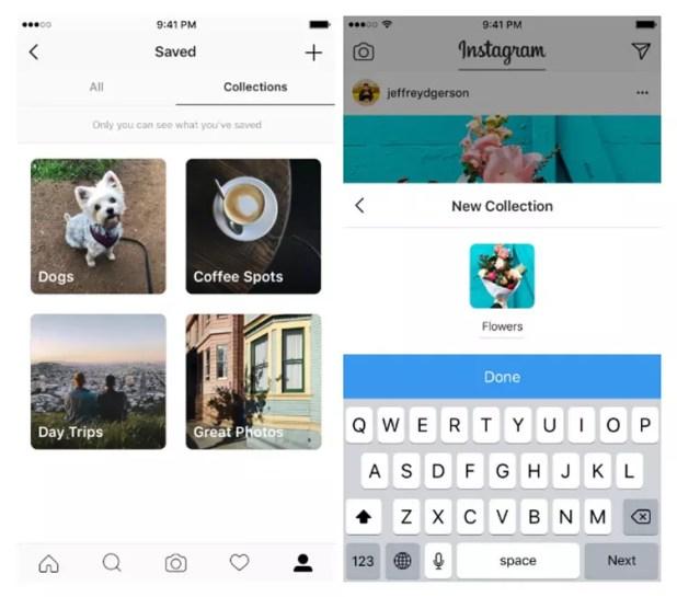 Organizar las fotos guardadas en Instagram con las etiquetas Colecciones