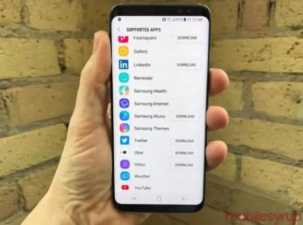aplicaciones compatibles con Bixby