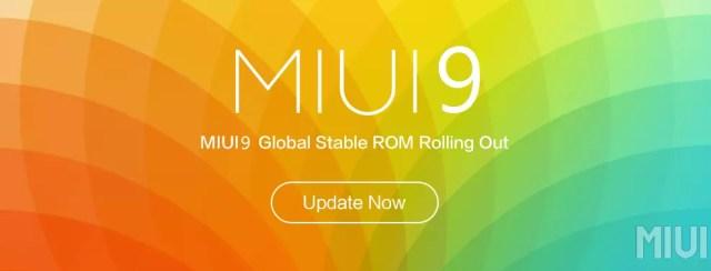 Actualización con MIUI 9