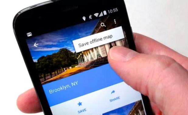 móvil con Google Maps