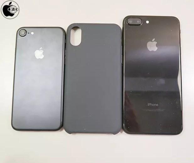 Comparativa de tamaño entre la funda de un iPhone 8 y el iPhone 7