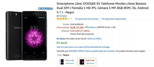 ofertas móviles amazon