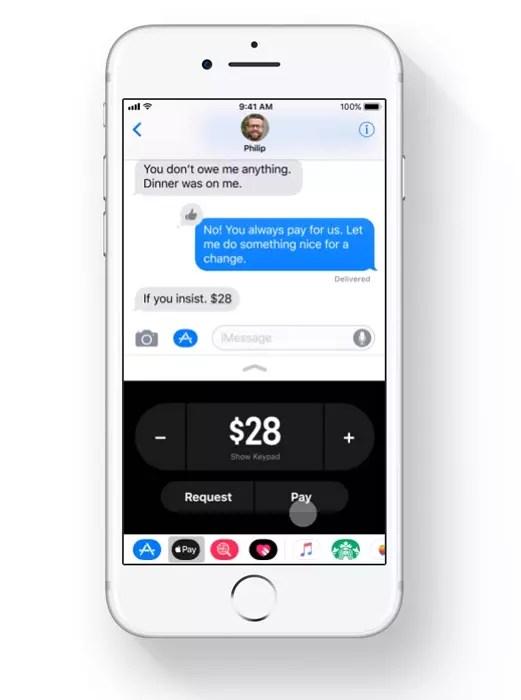 nueva función de Apple Pay integrada en iMessage