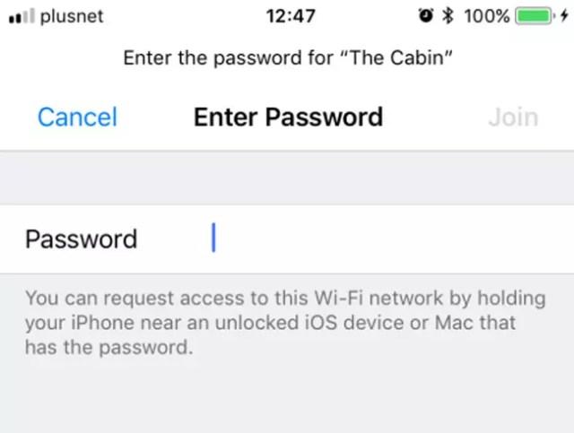 Solicitud de password de una red WiFi en <stro data-recalc-dims=