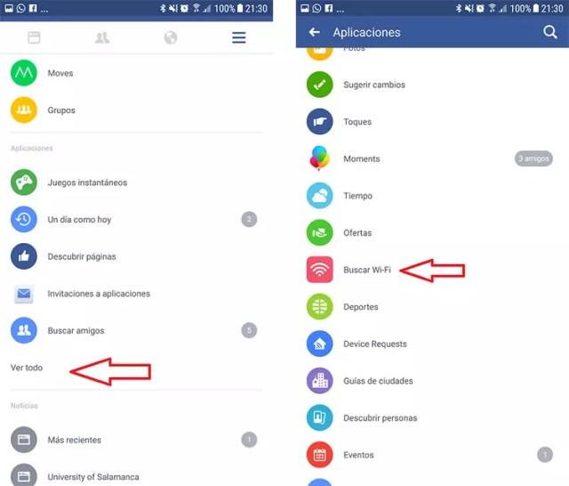 Cómo buscar puntos de conexión WiFi gratis con Facebook