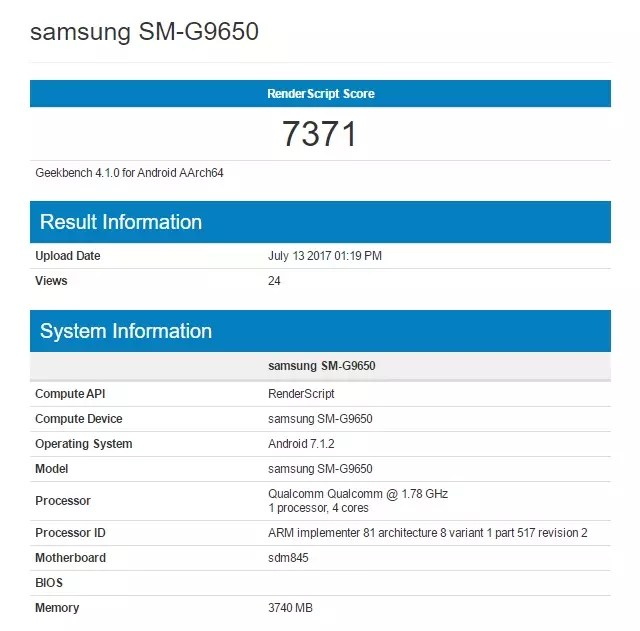 galaxy s9 geekbench