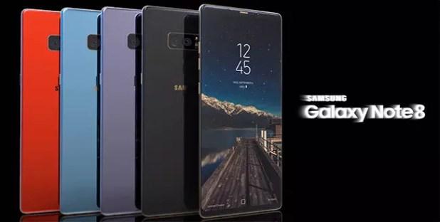 concepto del Samsung Galaxy Note 8