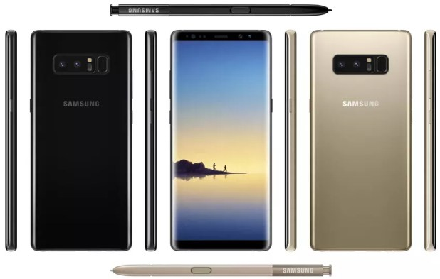 Colores disponibles para el Samsung Galaxy Note 8