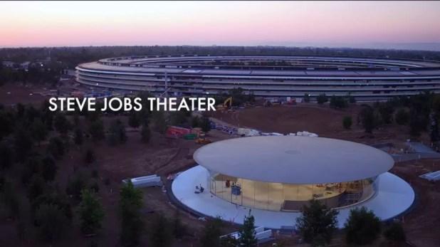 Vista del Teatro Steve Jobs en Apple Park