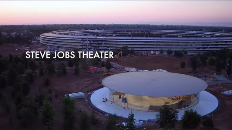 Vista del Teatro Steve Jobs en Apple Park