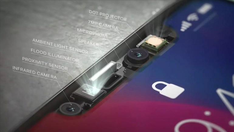 Cámaras del iPhone X que sirven para que funcione Face ID