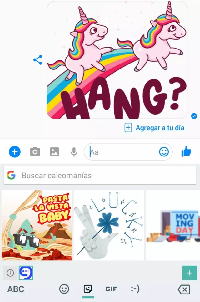 stickers para Gboard