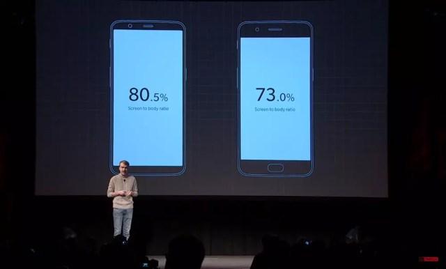 Ratio de la pantalla del OnePlus℗ 5T