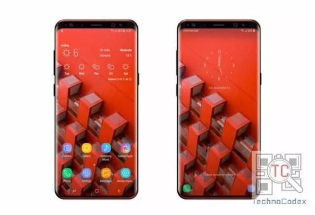 Posible aspecto de la pantalla del Samsung℗ Galaxy℗ S9 con menos marcos que en la del Galaxy℗ S8