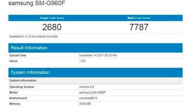 Samsung Galaxy℗ S9 con Exynos 9810