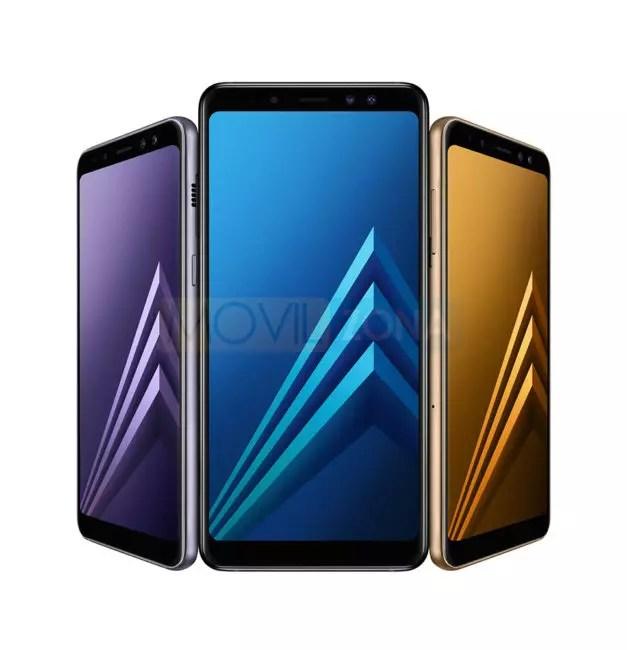 Samsung Galaxy℗ A8 violeta azul y dorado