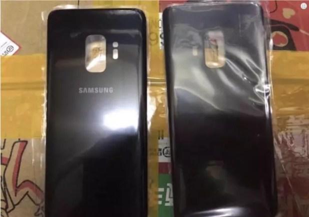 Supuesto panel trasero del Samsung Galaxy S9