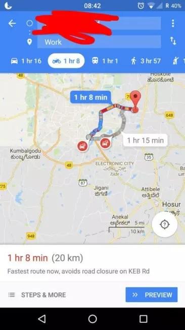 moto google maps