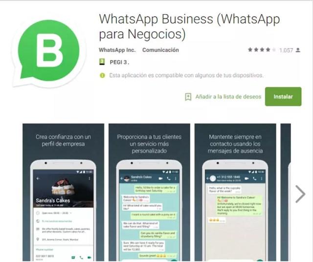 WhatsApp Business disponible para su descarga desde España