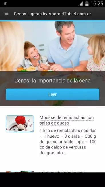 apps recetas ligeras