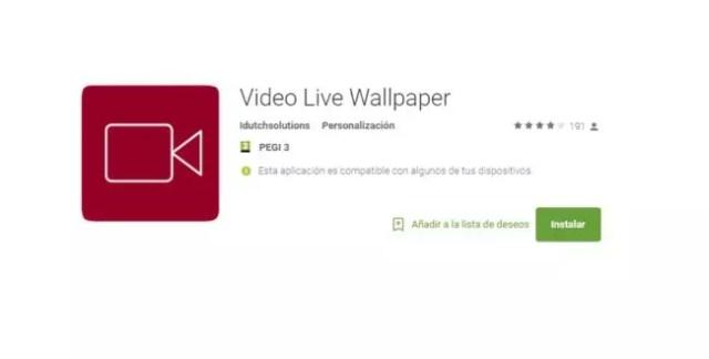 aplicación para poner un vídeo como fondo de pantalla